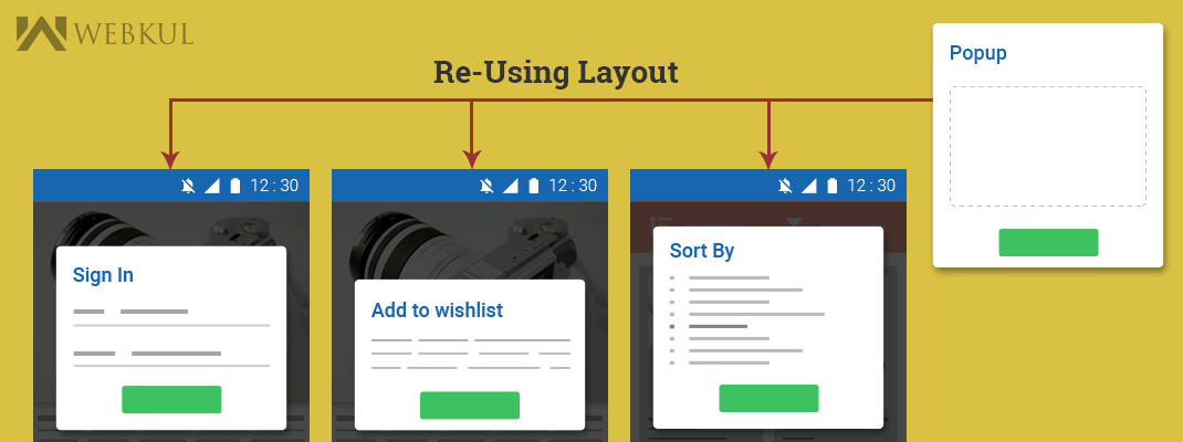 How to re-use layouts where you want, using include tag