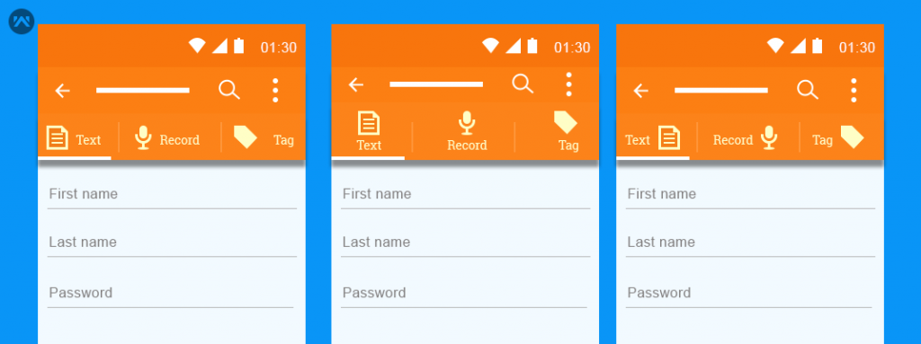 How to make custom tabs with text & icons in android - Mobikul