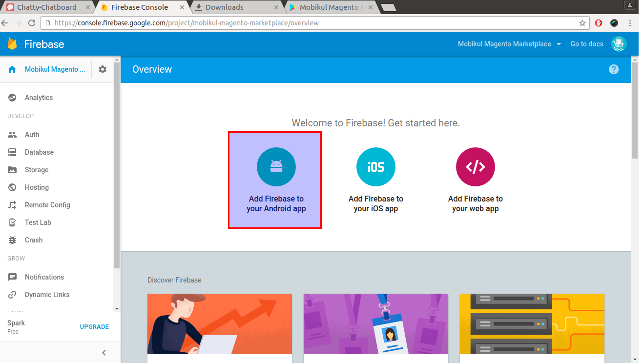 Generating google-service file to enable FCM(Firebase cloud