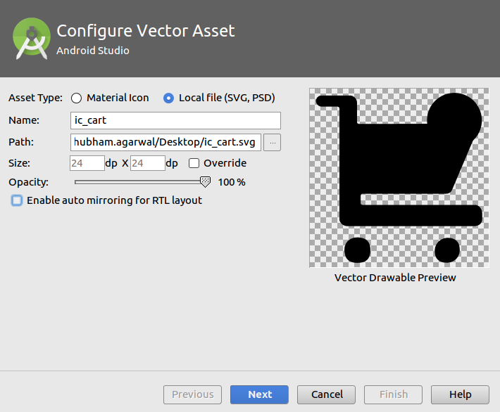 Android: USING SVG AND VECTOR DRAWABLE 'COMPAT' - Mobikul