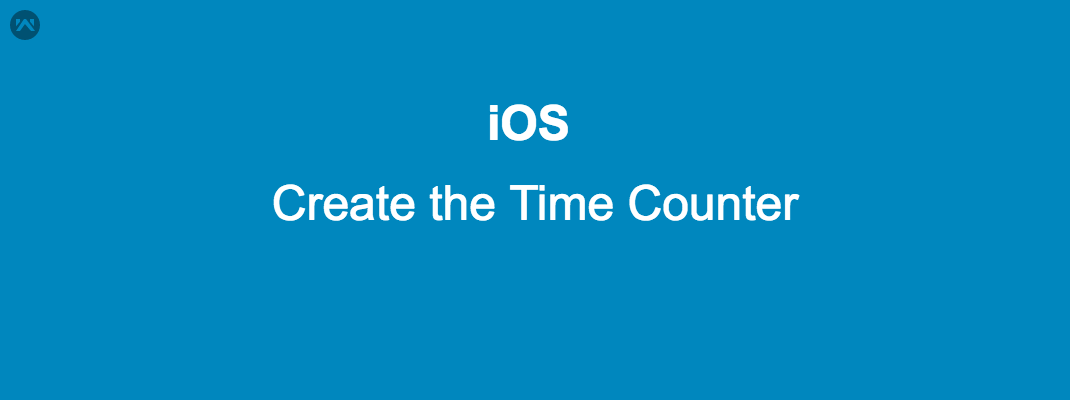 Create the Time Counter in IOS.