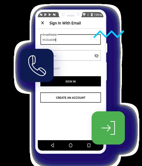 Sign-in via Mobile Number