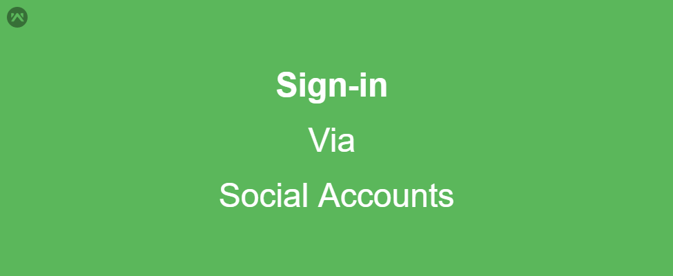 Sign-in via Social Accounts