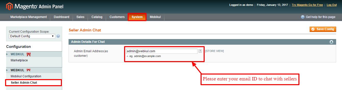 Configuration System Magento Admin-1