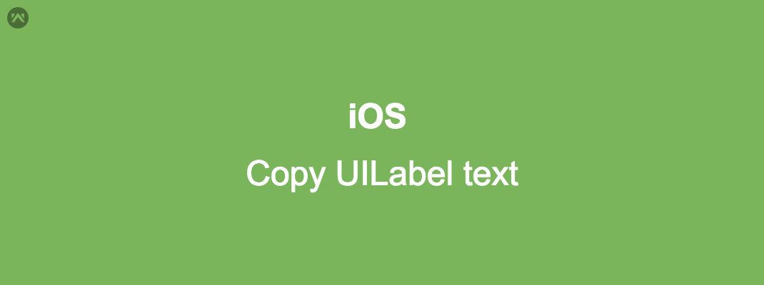 Copy Label text in iOS