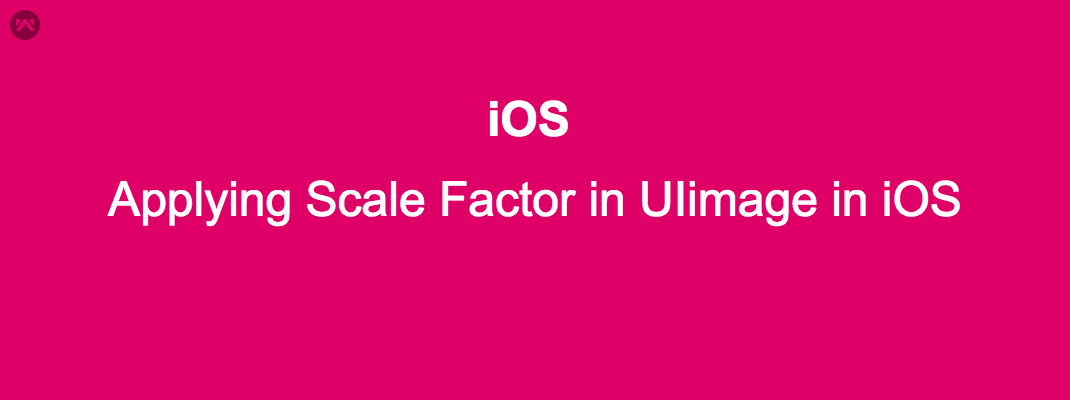 Applying Scale Factor in UIimage in iOS