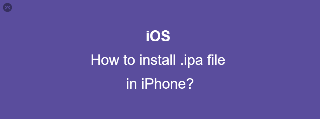 How to install .ipa file in iPhone?