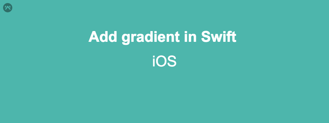 Add gradient in iOS
