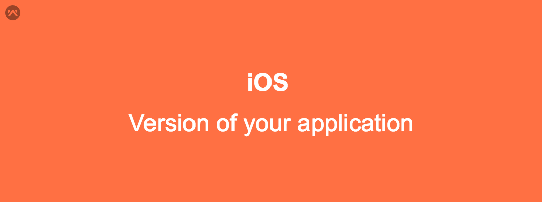 Know version of your application in iOS