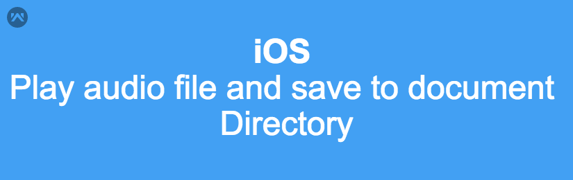 Play audio file and save to document directory in iOS (Swift)