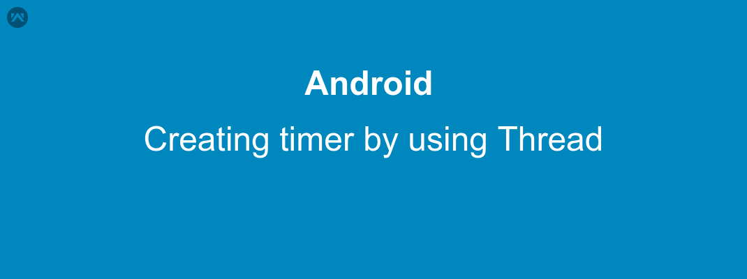 Creating Timer by using Thread
