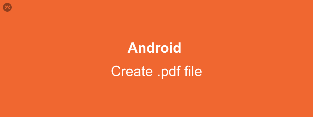Create pdf file in android