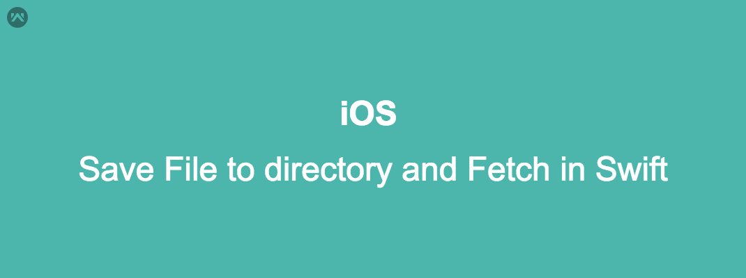 Save File to directory and Fetch in iOS