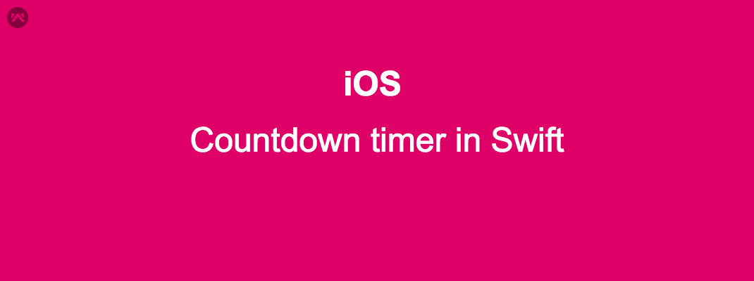 Countdown timer in iOS