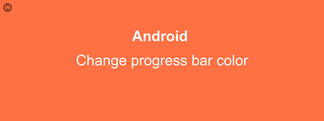 Change progress bar color in android
