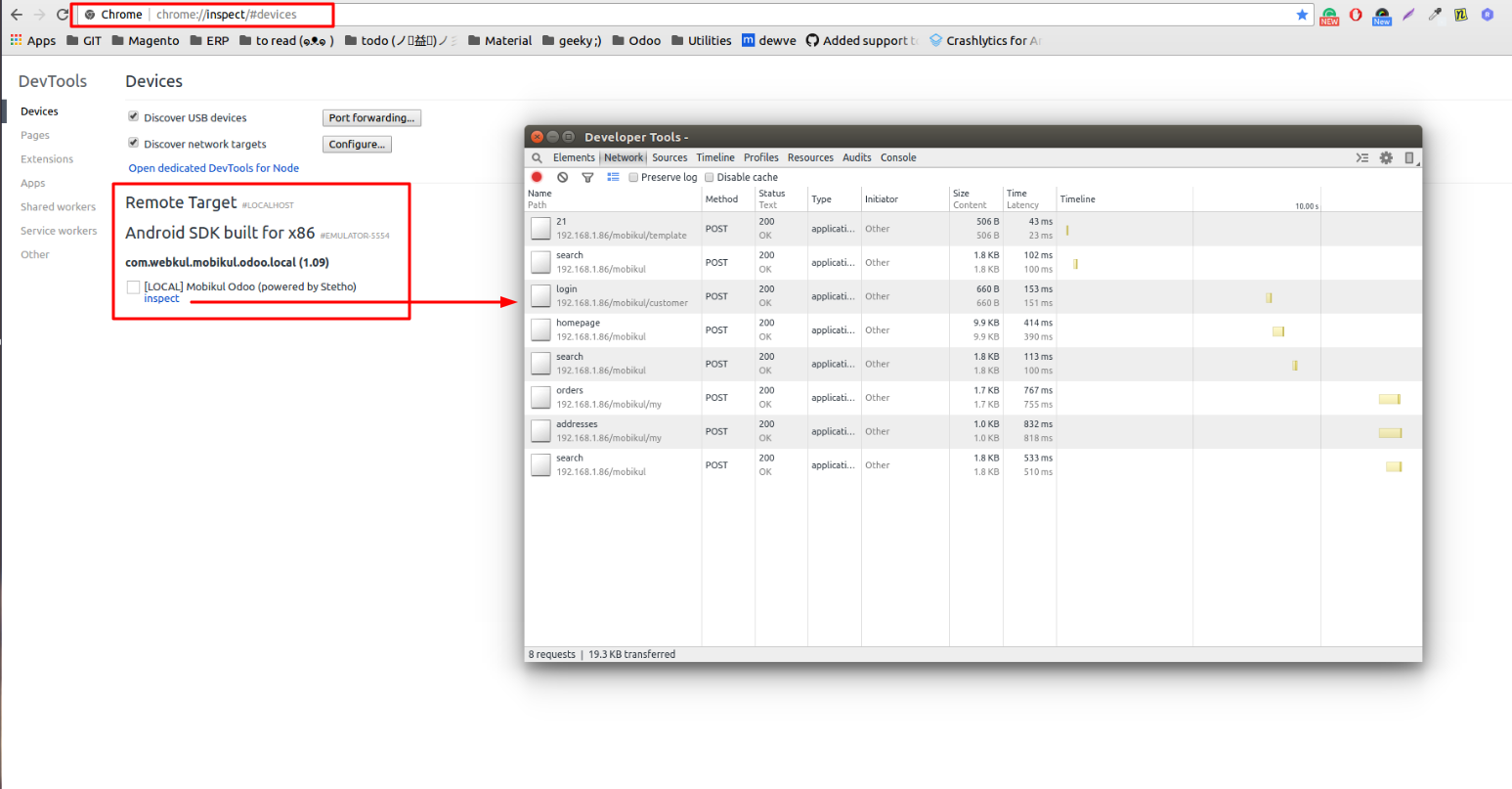 Remote debugging/inspecting android application at runtime using