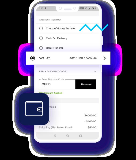 Mobikul Wallet System