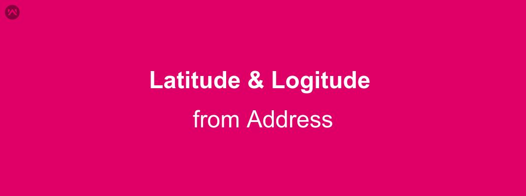 Getting Longitude and Latitude from Address