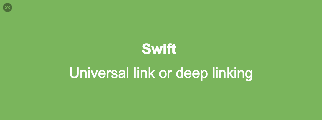 Universal link or deep linking in iOS