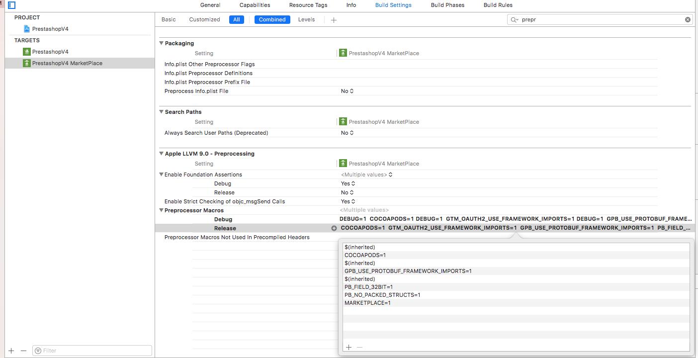 Create multiple targets in Xcode - Mobikul