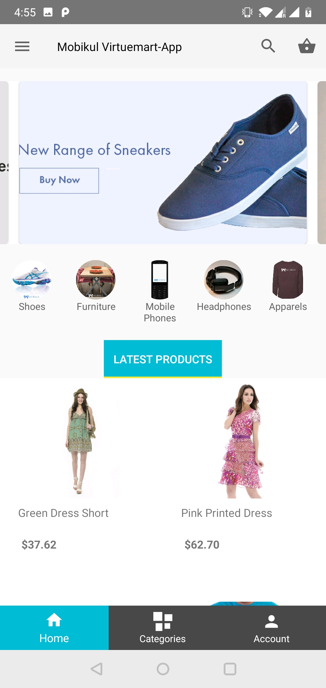 Mobikul Joomla VirtueMart E-commerce Mobile App