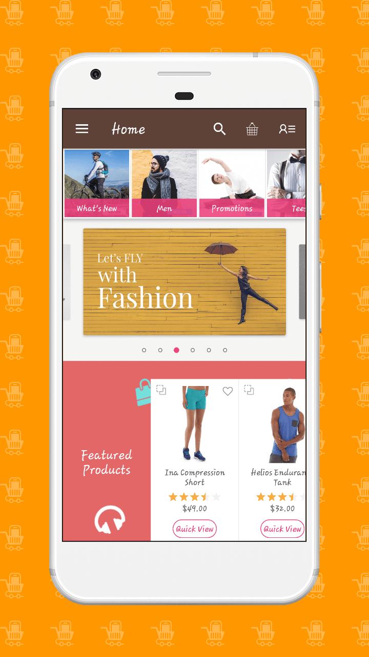 magento2 mobile app homepage