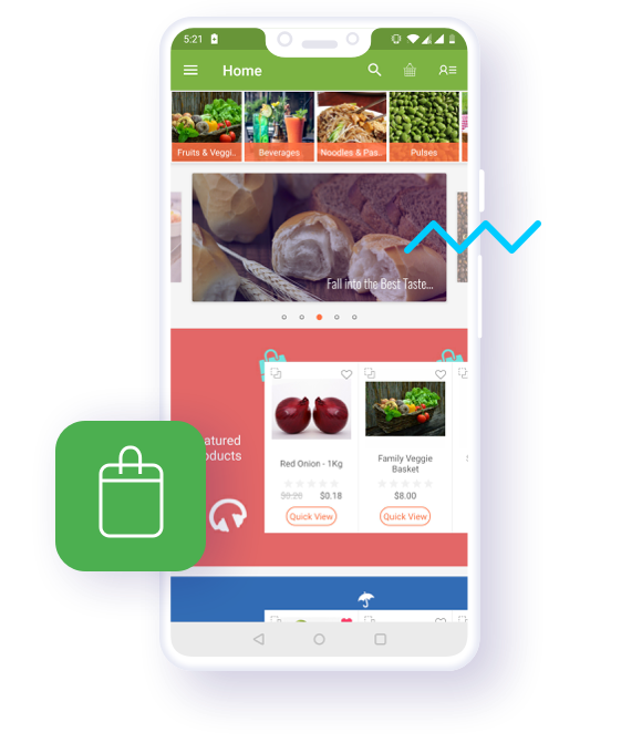 Magento 2 Grocery Mobile App