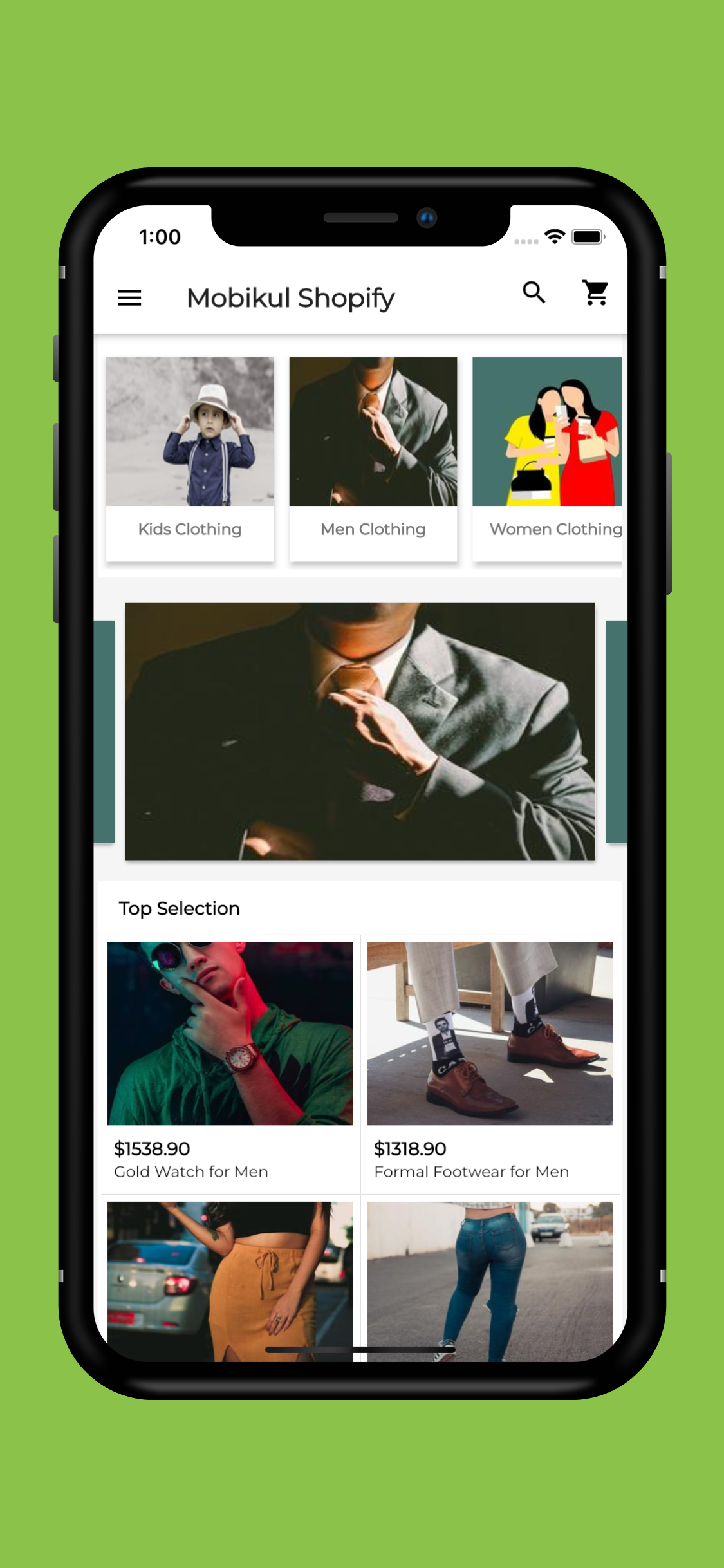 Mobile App for Shopify