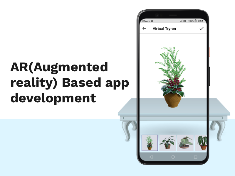 AR(Augmented reality) Based app development
