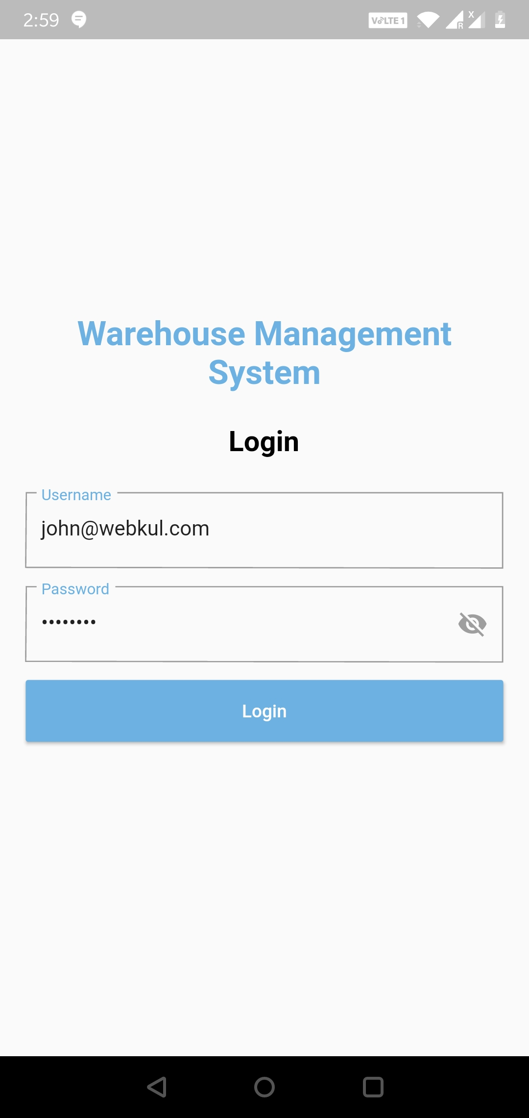 OpenCart Warehouse Management System (WMS) Mobile App