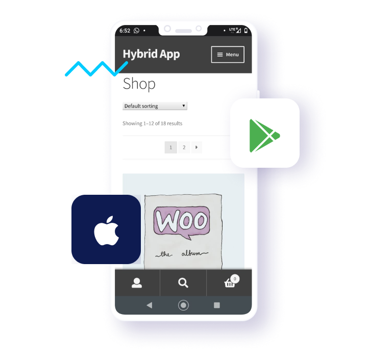 Hybrid Mobile App for WooCommerce