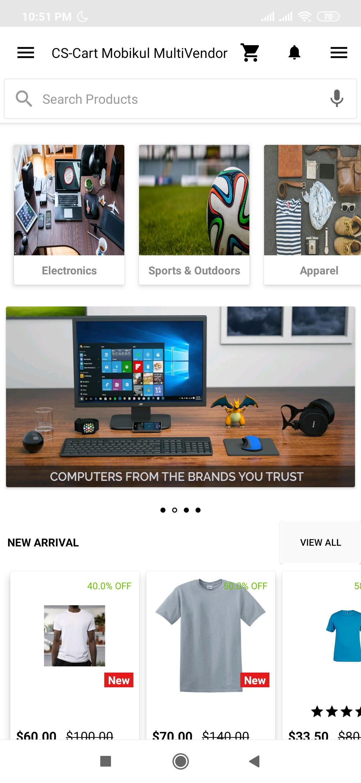 CS-Cart Marketplace Multi - Vendor Mobile App