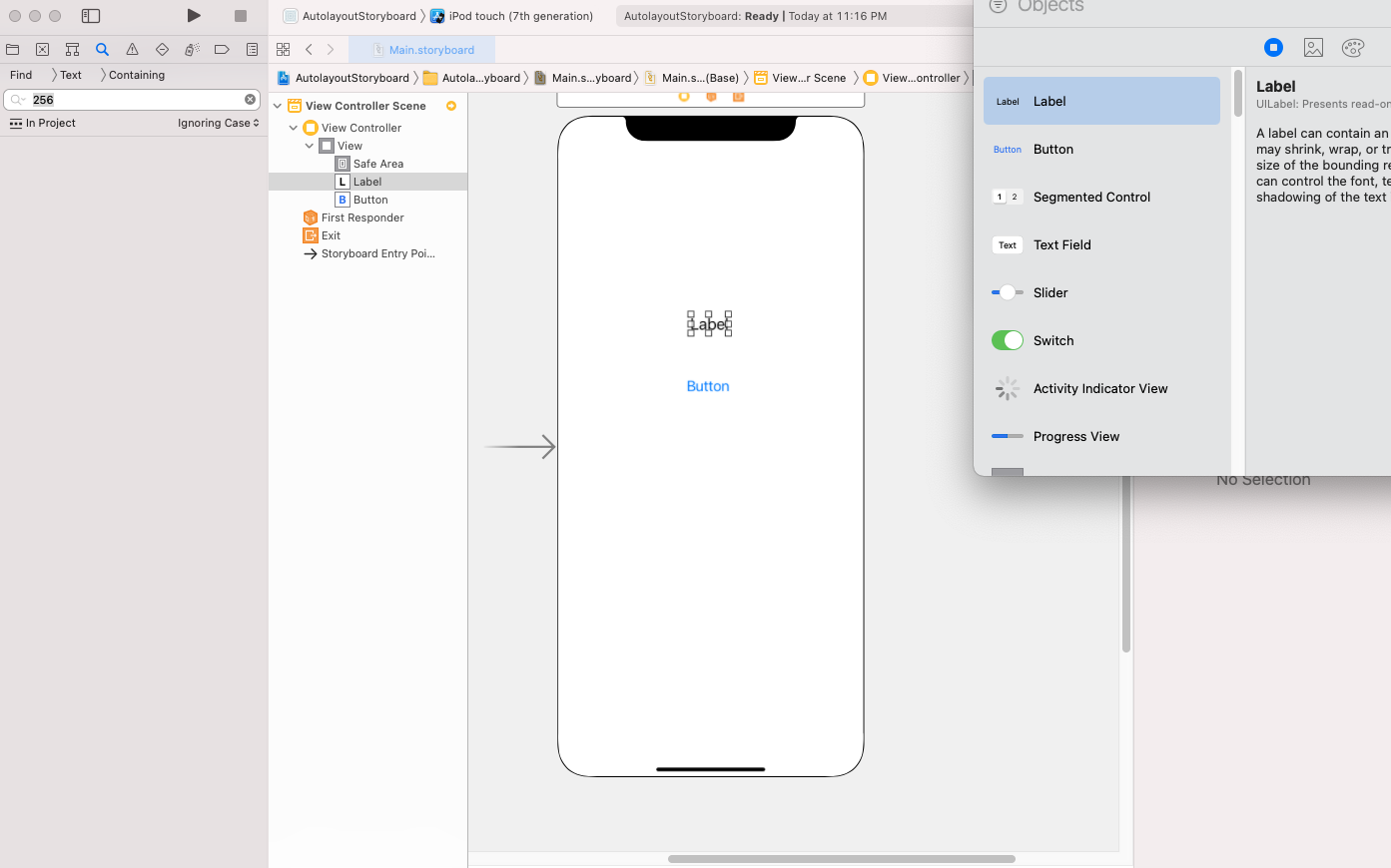 Auto layout in storyboard