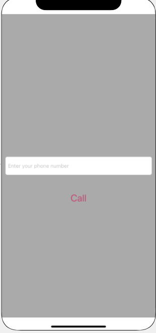Dialer with a phone number