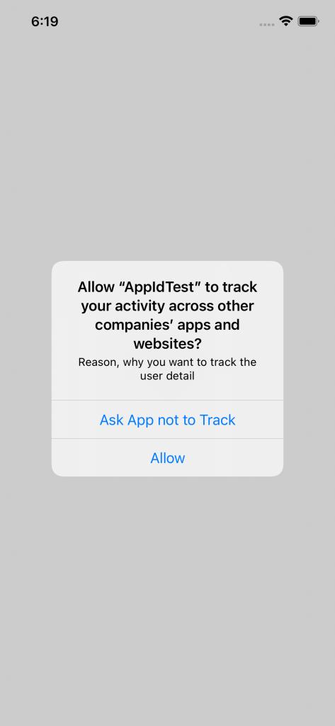 AppTrackingTransparency Example