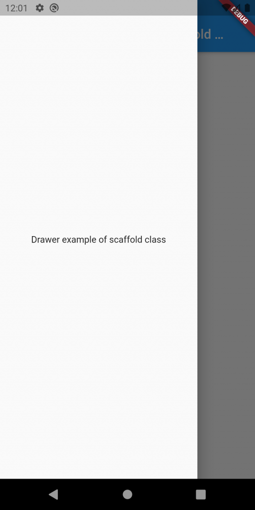 Drawer example of scaffold class
