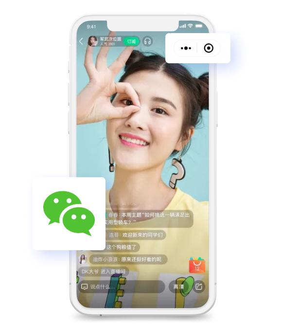 WeChat shopping app