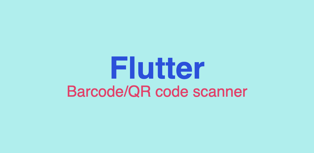 Barcode scanner in Flutter