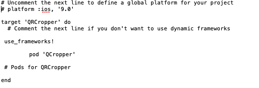 code for pod