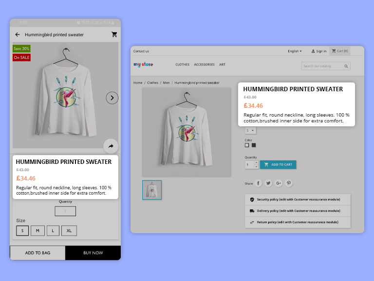 Real-time synchronization enables updated data in Prestashop mobile apps