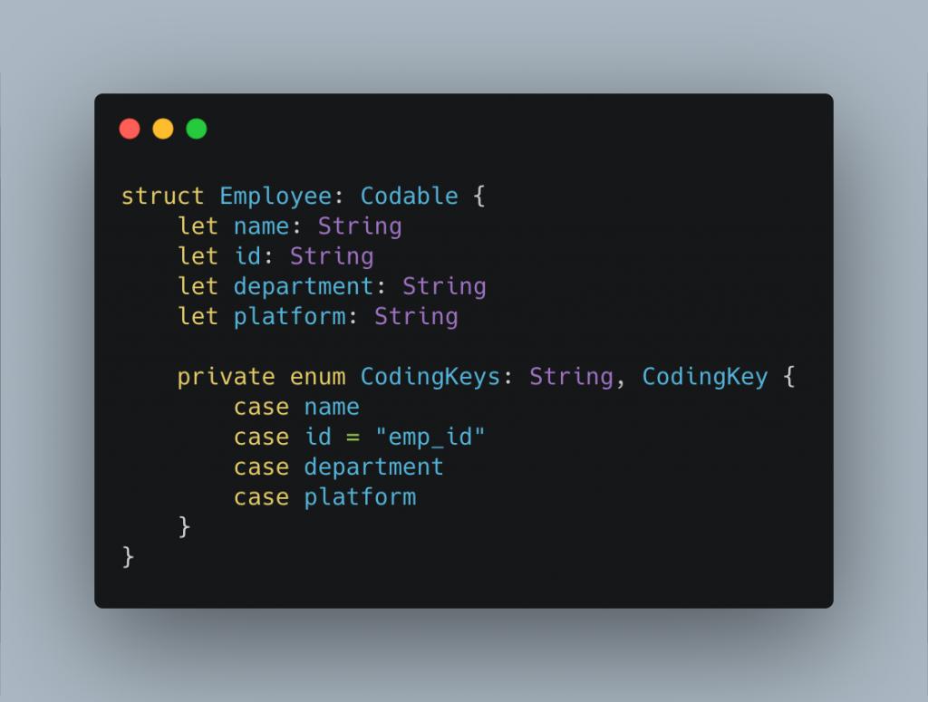 Renaming CodingKeys